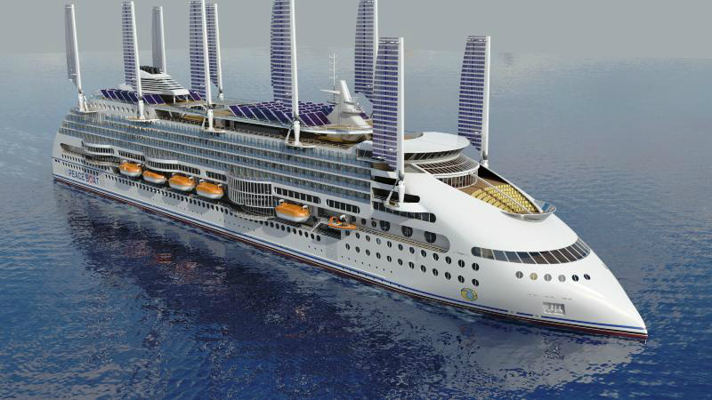 Eco Cruise Ship Concept From Peace Boat Crocierecouk - Cruise ship builders